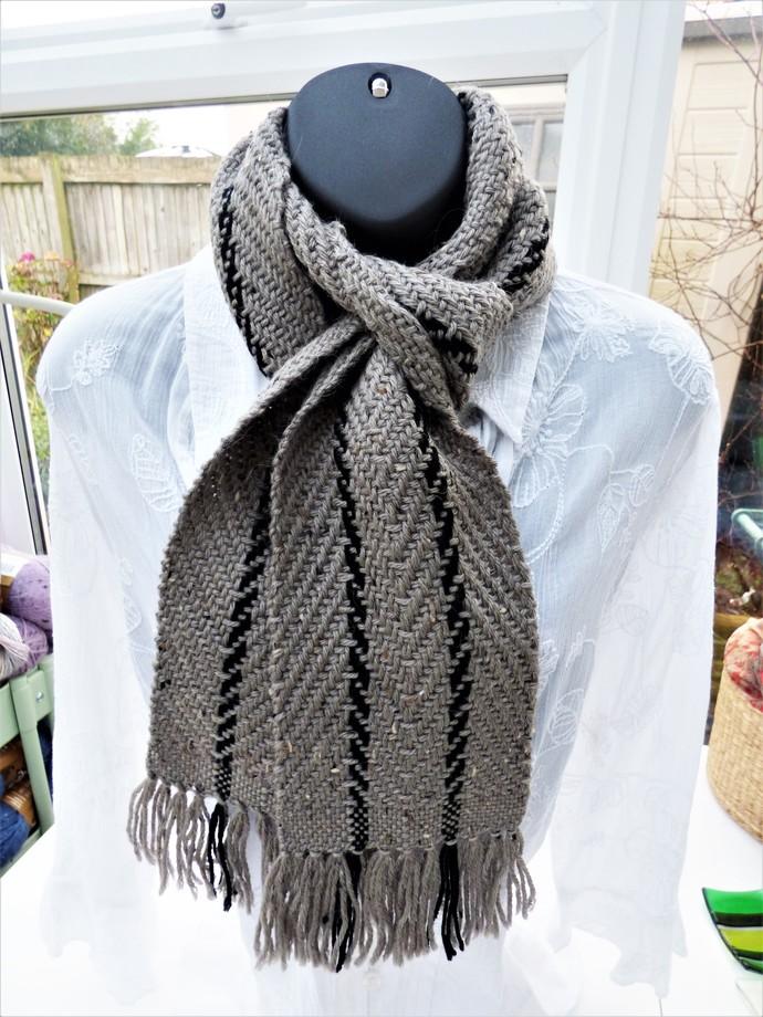 Hand Woven Scarf – 80% Acrylic 20% Alpaca – Twill Weave HW60