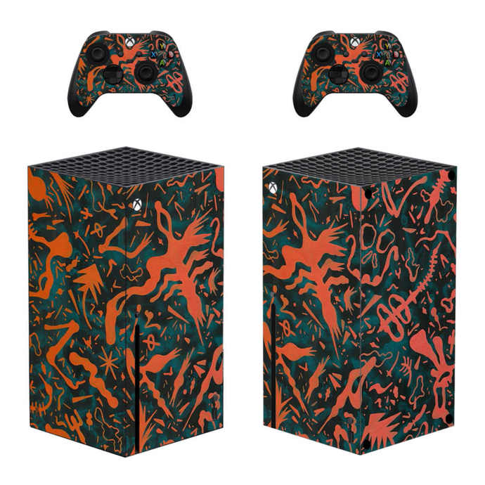 Colorful Xbox series X skin