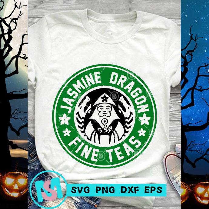 Jasmine Dragon Fine Teas SVG, Starbucks SVG, Coffee SVG, Jasmine Dragon SVG,