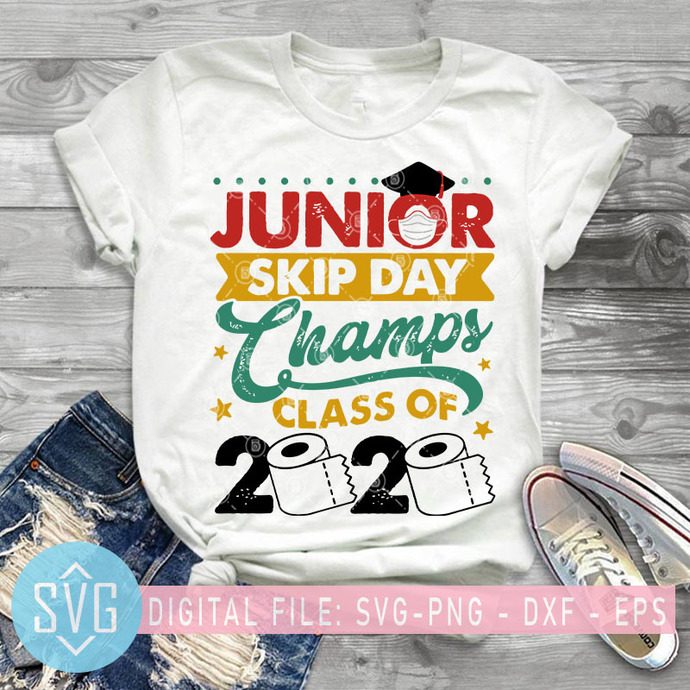 Junior skip day champs class of 2020 SVG, Junior SVG, Covid-19 SVG, Coronavirus