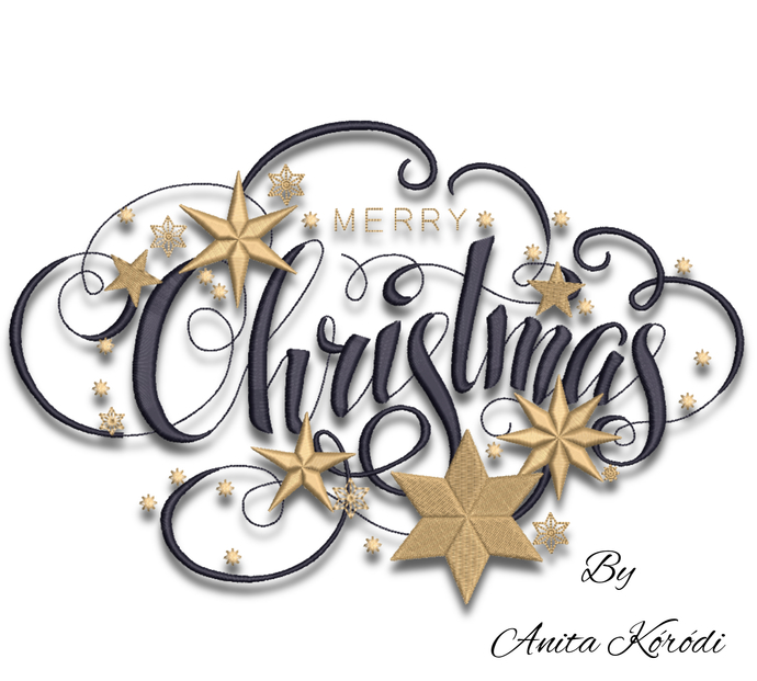 Merry Christmas embroidery machine design pes instant digital download