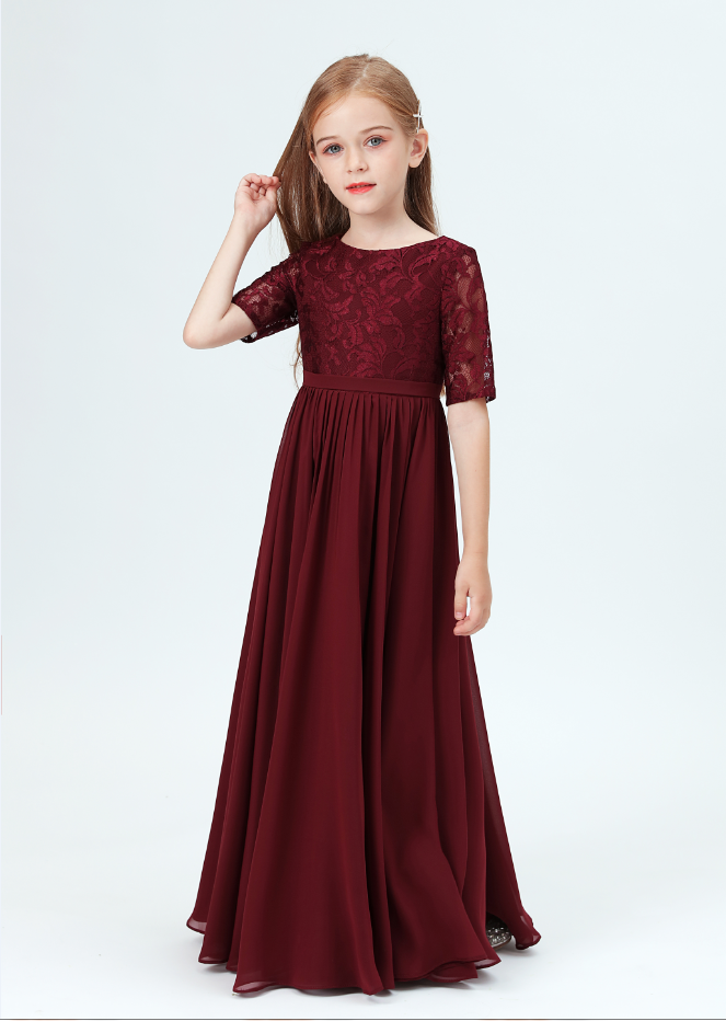 Flower Girl Dresses,Girl Children Lace Princess Dress For Girl Elegant