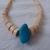 vintage bone beads turquoise necklace