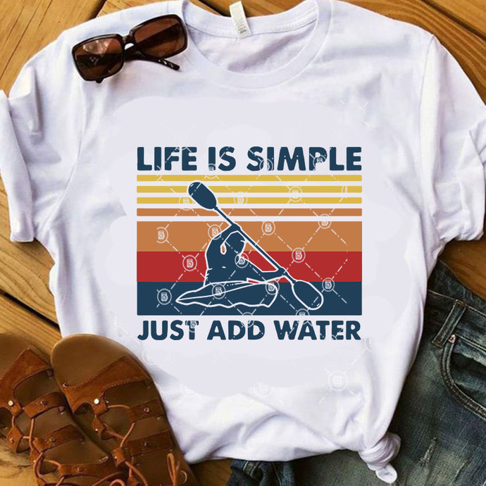 Life Is Simple Just Add Water SVG, Holiday SVG, Vintage SVG, Quote SVG, Funny