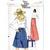 Vogue 8815 Misses Wrap Skirt 70s Vintage Sewing Pattern Uncut Size Small Waist
