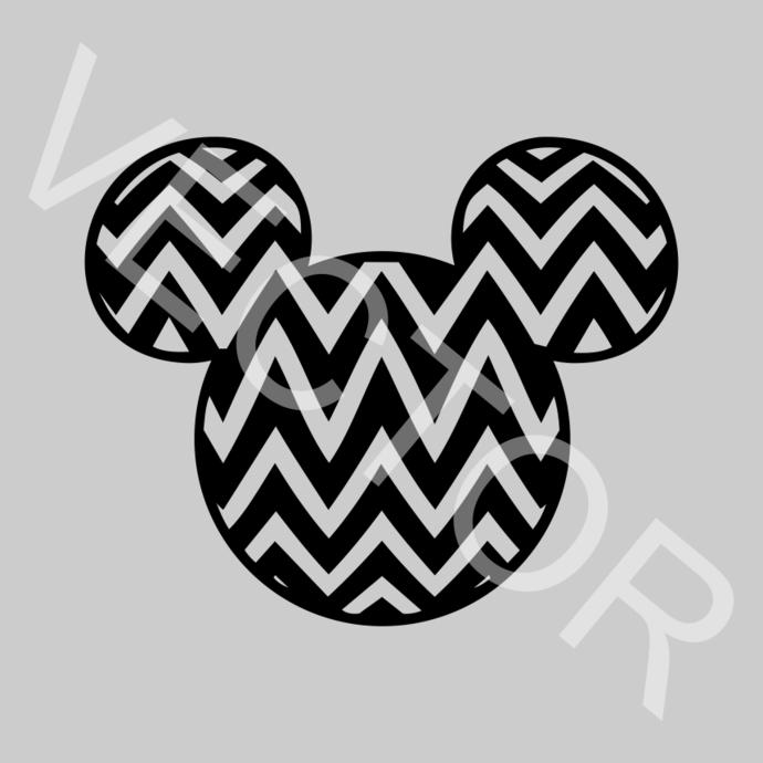 Chevron Mickey mouse disney Graphics SVG Dxf EPS Png Cdr Ai Pdf Vector Art