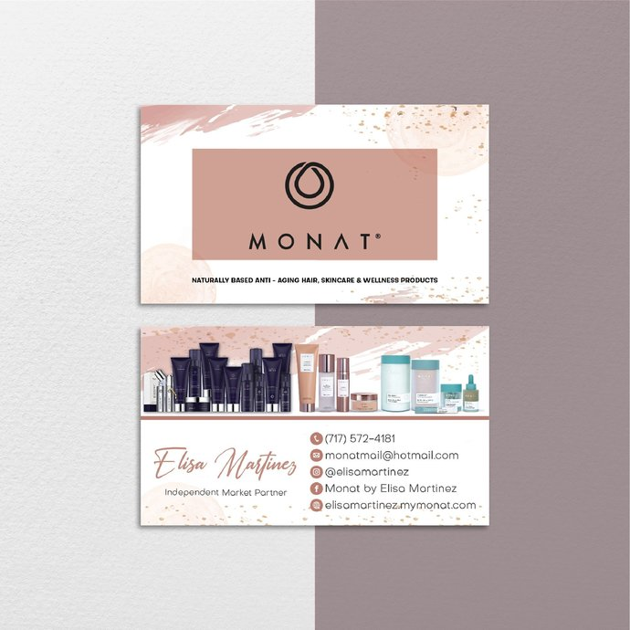 Glitter Personalized Monat Business Cards, Glitter Monat Business Cards, Monat