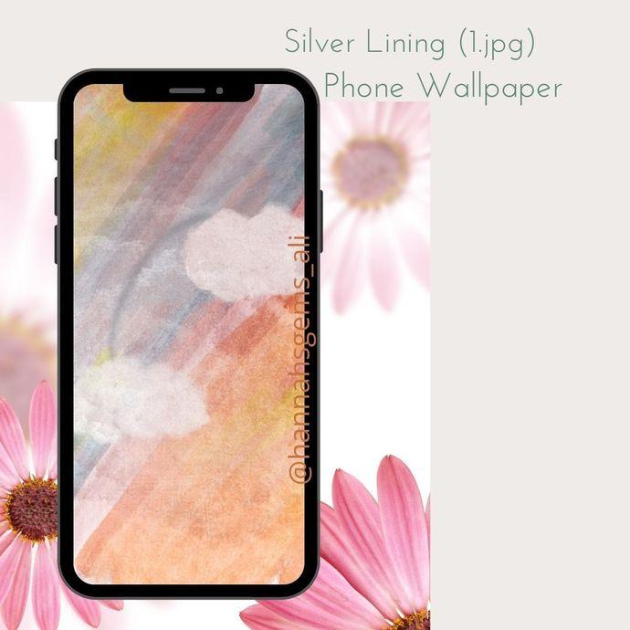 Silver Lining Digital Phone Wallpaper