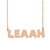 Custom Leaah Name Necklace Personalized Gift for Halloween Easter Christmas