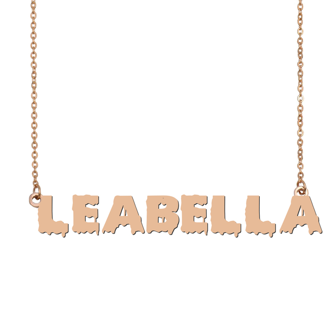Custom Leabella Name Necklace Personalized Gift for Halloween Easter Christmas