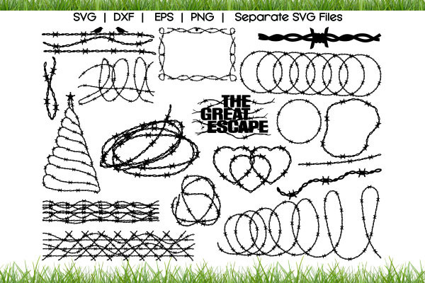 Barbed wire SVG Cut Files