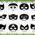Batman mask SVG Cut Files