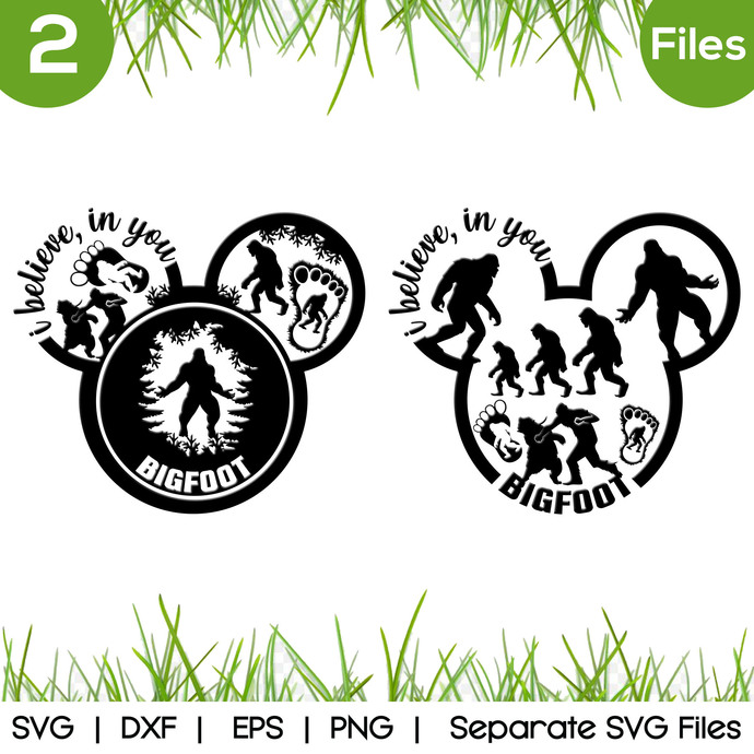Bigfoot Mickey SVG Cut Files