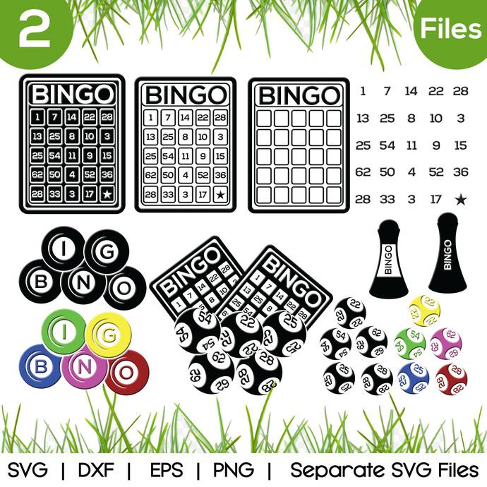 Bingo SVG Cut Files