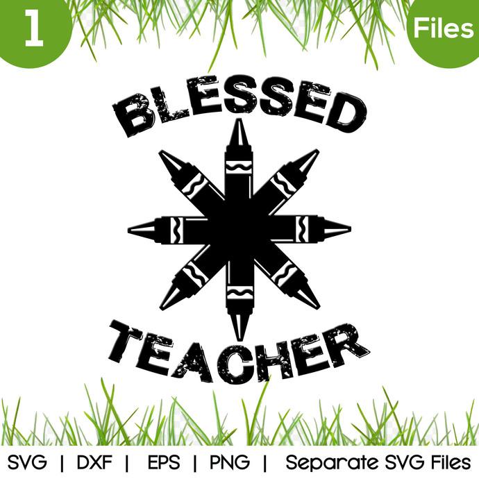 Blessed Teacher SVG Cut Files