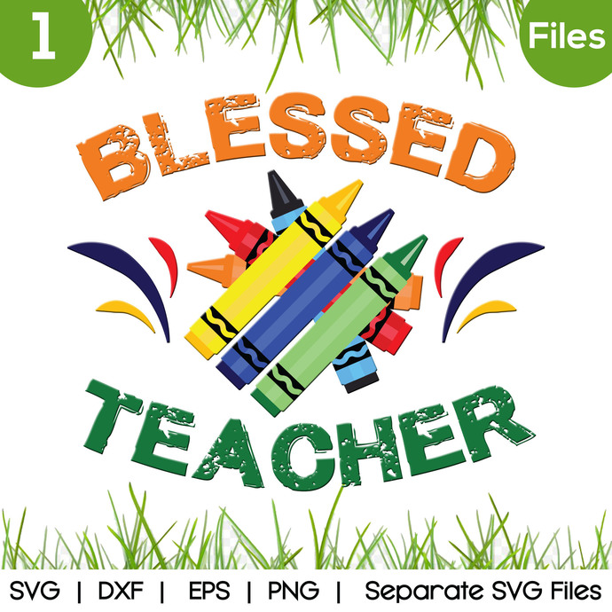 Blessed Teacher SVG Cut Files