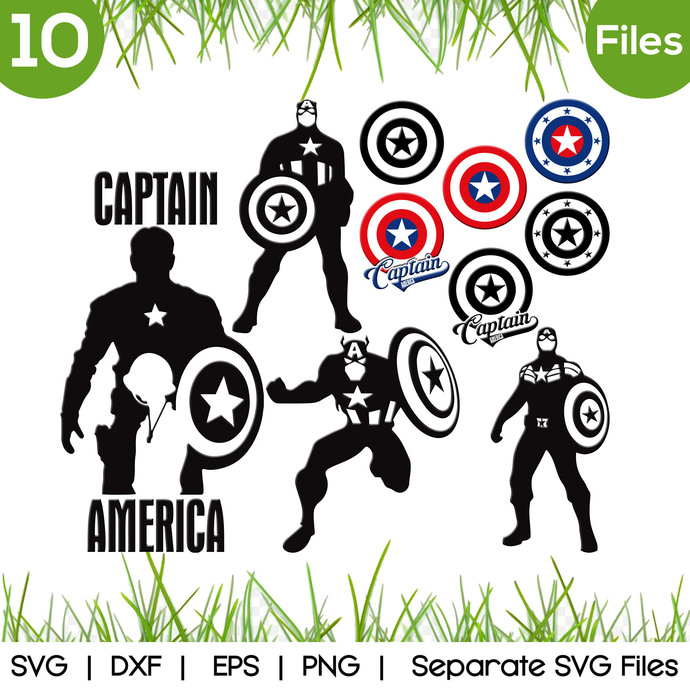 Captain America SVG Cut Files