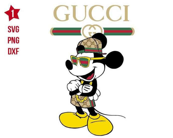 Mickey Gucci svg, Disney svg, Gucci brand svg, Mickey mouse svg, Disney shirt