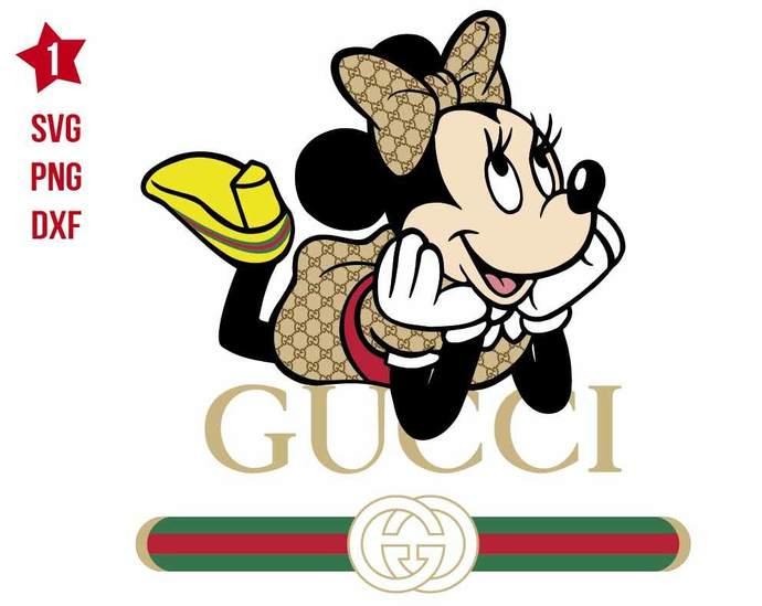 Minnie Gucci svg, Minnie Mouse svg, Minnie svg, Minnie Fashion svg, Disney svg,