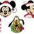 Christmas Mickey svg, Christmas Minnie and Mickey Mouse Head Face,  Mickey with