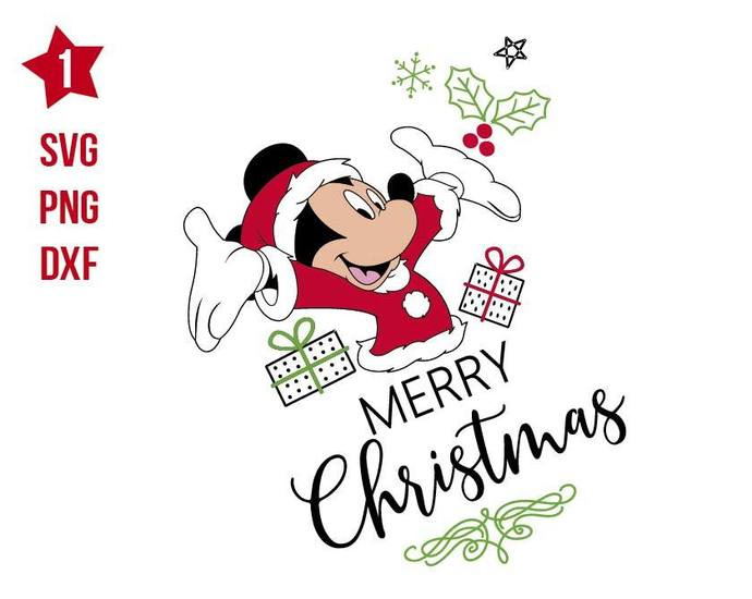 Disney Mickey Christmas Mickey Svg Mickey By Rhinodigital On Zibbet