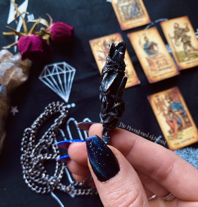 Copper Smudge Wand / Sage Necklace