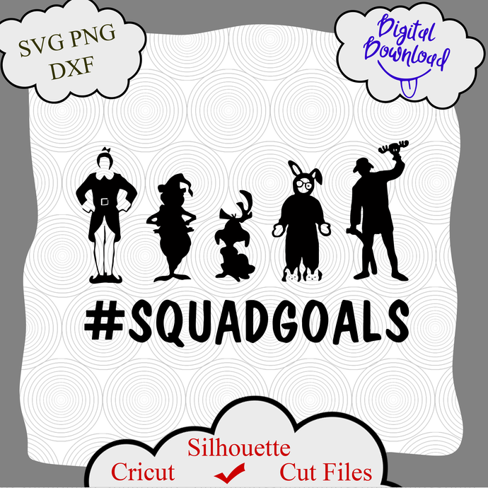 Christmas Squad Goals svg file, Squad Goals svg, Squad Goals shirt png, Squad