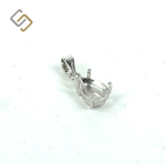 Pear Pendant with Pear Mounting and Bail in Sterling Silver | MTP795 | MTP796