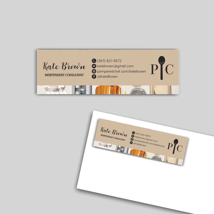Custom Pampered Chef Address Label, Pampered Chef Mailing Label Card PC07