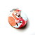 Tape Measure Wading Flamingos Small Retractable Measuring Tape