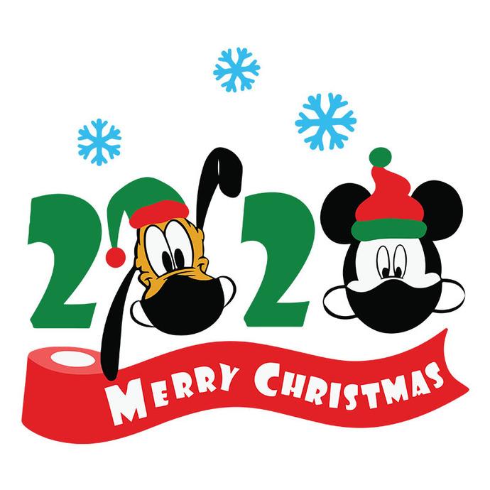 Disney Christmas 2020 Quarantined SVG files