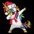 Merry Christmas Unicorn Dabbing Funny Xmas Unicorn Svg