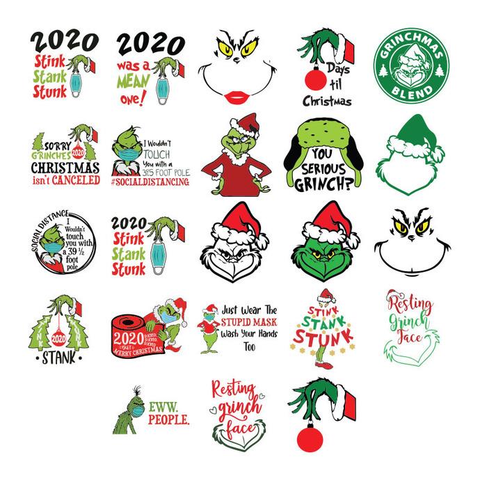Grinch svg, Christmas 2020 svg, Christmas svg, stink stank stunk svg, christmas