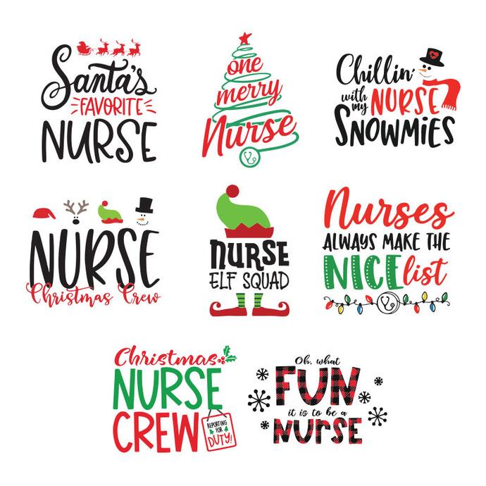 Christmas Nurse svg, bundle Elf squad svg, holiday nurse svg, dxf, xmas holiday