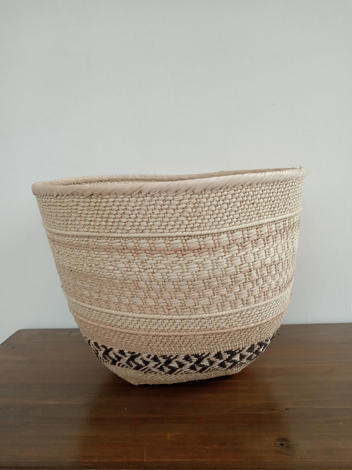 Natural floor basket, African handmade basket, home decor, home organizer,