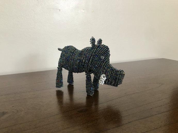 Warthog handcrafted figurine, Christmas gift, Christmas decor, Animal lover,