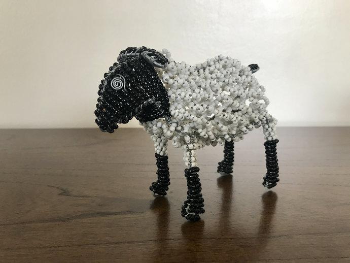 Sheep handcrafted figurine, Christmas gift, Christmas decor, Animal lover, Cute
