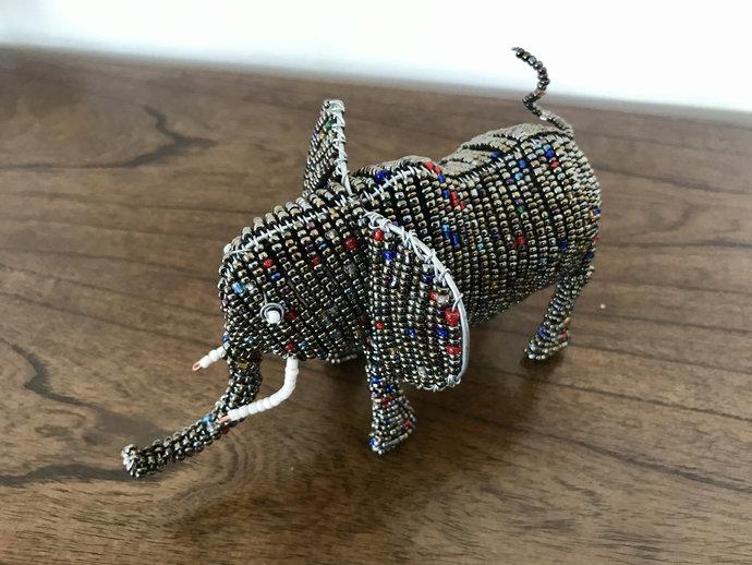 Elephant handcrafted figurine, Christmas gift, Christmas decor, Animal lover,