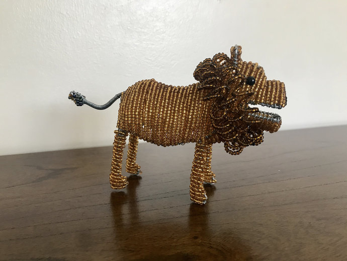 Lion handcrafted figurine, Christmas gift, Christmas decor, Animal lover, Cute