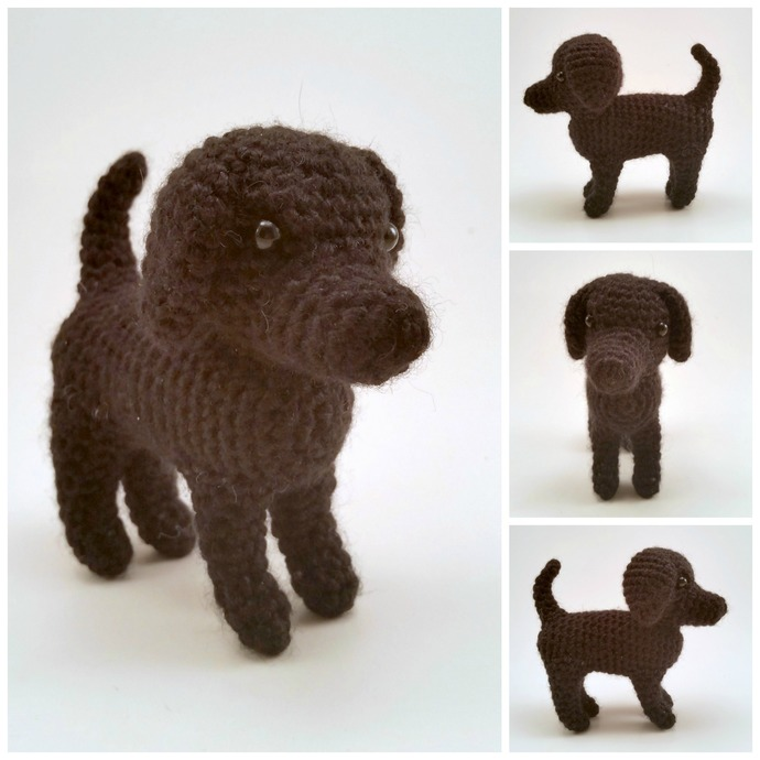 Labrador Retriever (Black) Realistic Crocheted Plush - *READY TO SHIP*