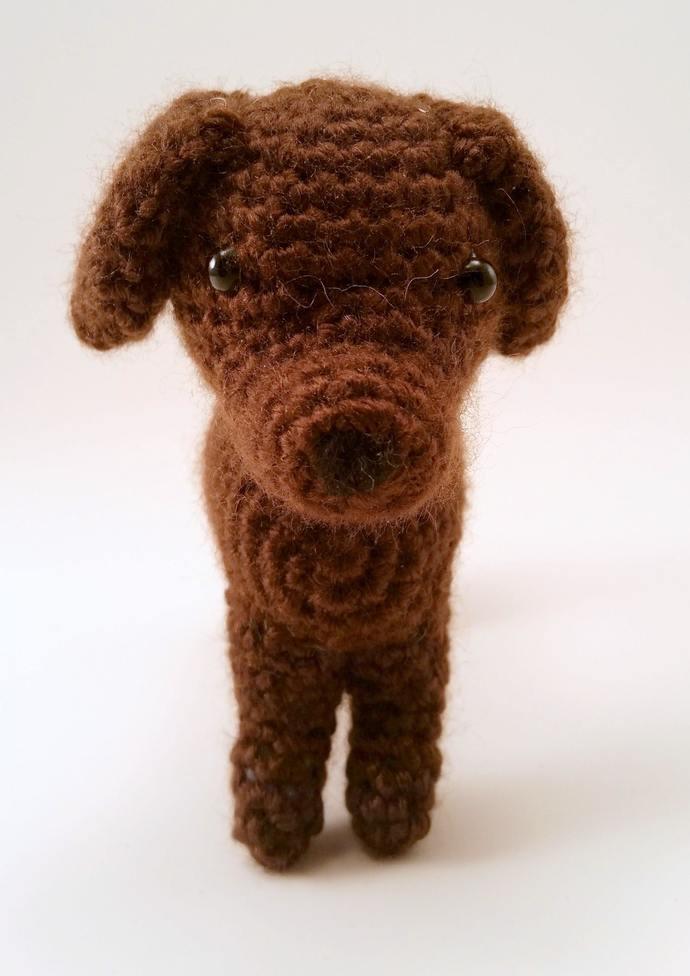 Labrador Retriever (Chocolate) Realistic Crocheted Plush - *READY TO SHIP*