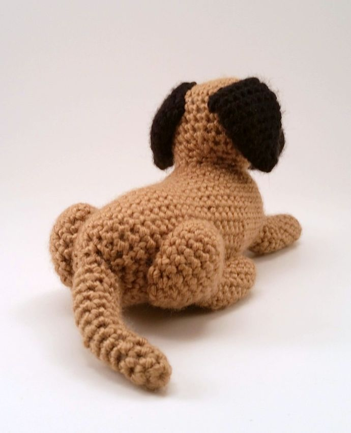Great Dane (Natural Ears, Fawn) Realistic Crocheted Plush - *READY TO SHIP*