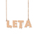 Custom Leta Name Necklace Personalized Gift for Halloween Easter Christmas