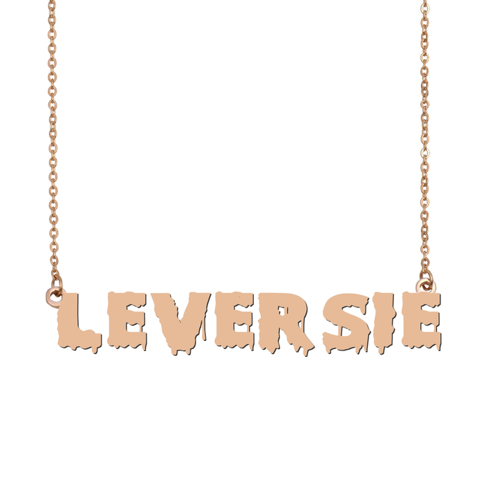 Custom Leversie Name Necklace Personalized Gift for Halloween Easter Christmas