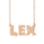 Custom Lex Name Necklace Personalized Gift for Halloween Easter Christmas