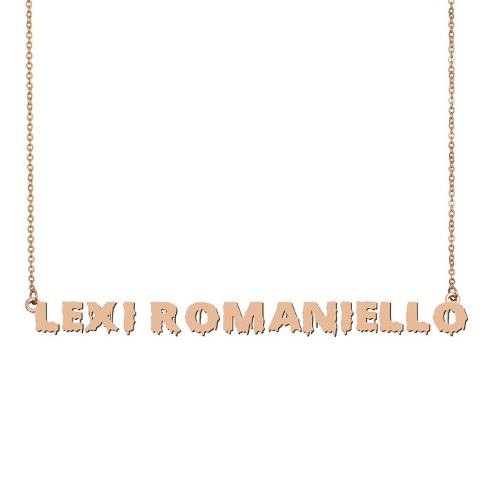Custom Lexi Romaniello Name Necklace Personalized Gift for Halloween Easter