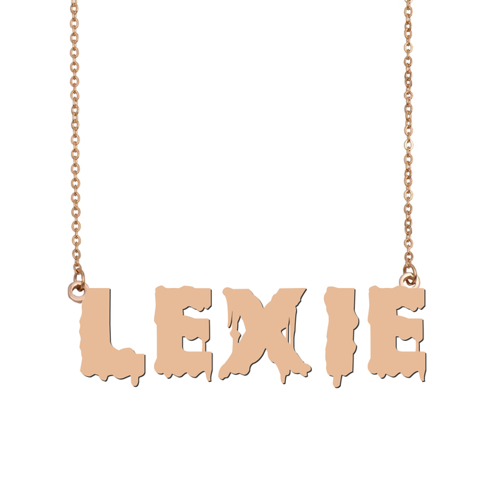 Custom Lexie Name Necklace Personalized Gift for Halloween Easter Christmas