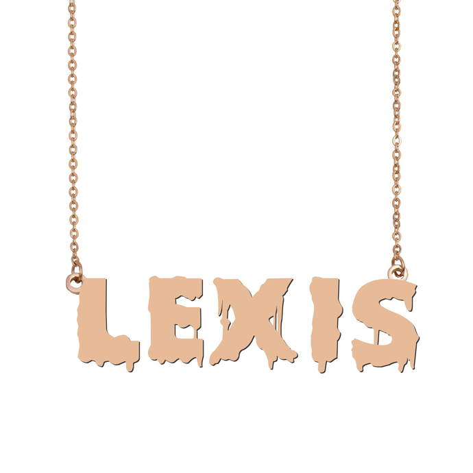 Custom Lexis Name Necklace Personalized Gift for Halloween Easter Christmas