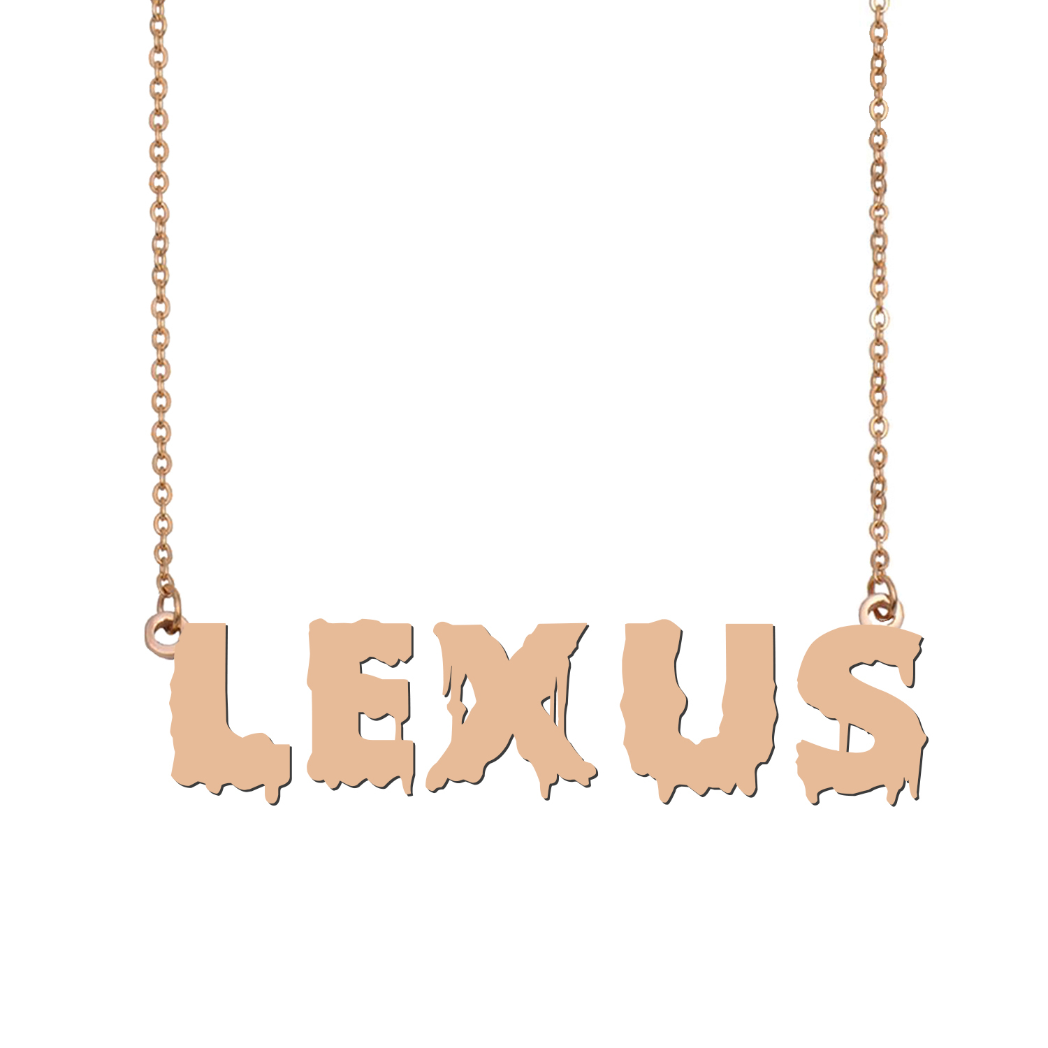 Custom Lexus Name Necklace Personalized Gift for Halloween Easter Christmas