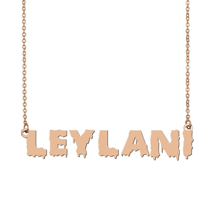 Custom Leylani Name Necklace Personalized Gift for Halloween Easter Christmas